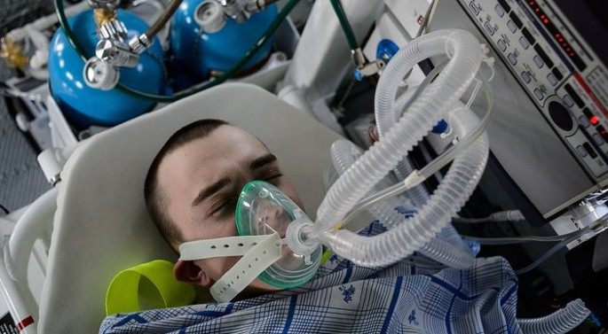 Liquid breathing technology test in Russia.