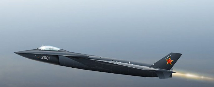Chengdu J-20 heavy stealth fighter takes to the air.