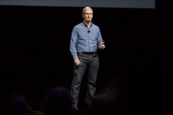 Apple CEO Tim Cook speaks at an Apple event at the Worldwide Developer's Conference on June 13, 2016 in San Francisco, California.