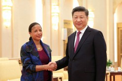 U.S. National Security Adviser Susan Rice met with Chinese President Xi Jinping at the Great Hall of the People during her visit to China recently.
