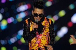 Taeyang of BIGBANG performs on the stage during a concert at the K-Collection In Seoul on March 11, 2012 in Seoul, South Korea.
