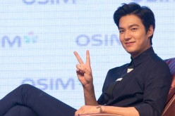 Korean actor Lee Min-Ho attends a press conference for a commercial event on Sept. 11, 2014 in Taipei, Taiwan.