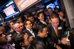 Jack Ma was in NYC during the listing of Alibaba on the New York Stock Exchange.
