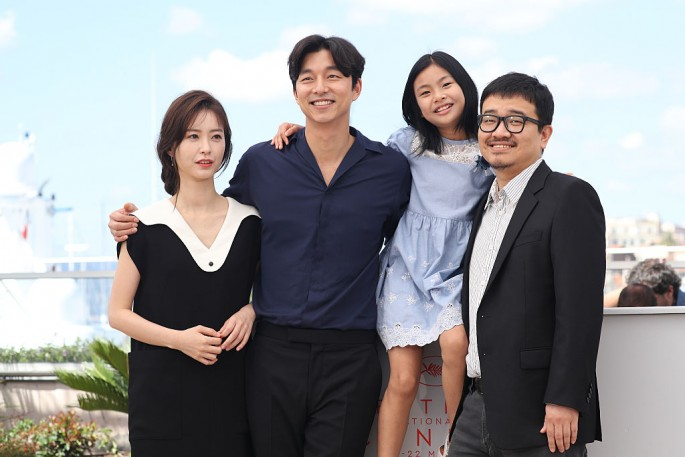 'Train to Busan' main cast members and its director attends the movie's photocall during the 69th Annual Cannes Film Festival held in May.