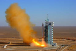 A Long March-2D carrier rocket blasts off at the Jiuquan Satellite Launch Center in Dec. 2008 in Gansu Province.