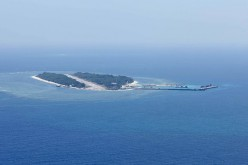 One of the artificial islands China constructed in the South China Sea.