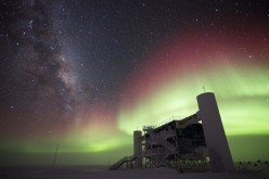 The IceCube Neutrino Observatory as seen in the South Pole of Antarctica, which is an observatory for neutrino detection.