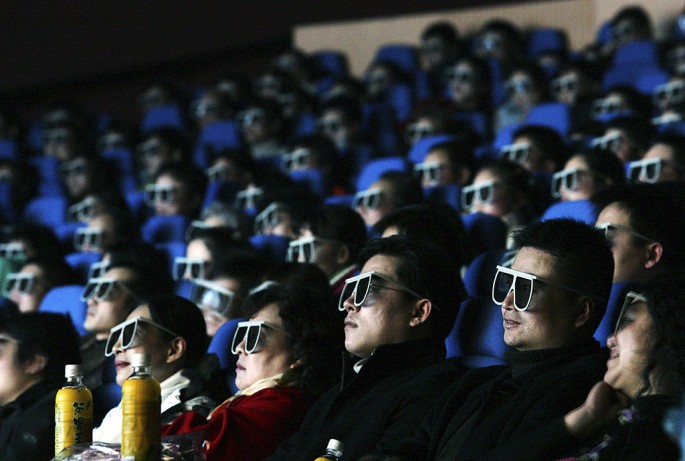 In China, around 15 theaters are being opened each day.
