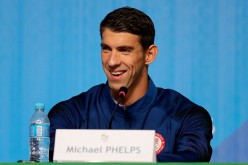 Michael Phelps of the United States speaks during a press conference at the Main Press Centre on August 14, 2016 in Rio de Janeiro, Brazil.