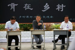 Alibaba founder and CEO Jack Ma, hailed as Asia's richest tech billionaire based on Forbes' 2016 list of 100 Richest in Tech, attends the opening of a rural school in Guiyang in western China.