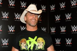 Shawn Michaels appears at a news conference announcing the WWE Network at the 2014 International CES.