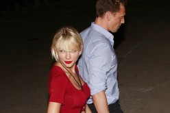 Taylor Swift and Tom Hiddleston are seen holding each other's hands after Selena Gomez's concert.