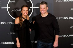 Actor Matt Damon and actress Alicia Vikander attend 'Jason Bourne' photocall at Villamagna Hotel on July 13, 2016 in Madrid, Spain.