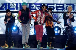 Seungri, G-Dragon, TOP, Taeyang and Daesung of Big Bang perform on the stage during a concert at the K-Collection In Seoul on March 11, 2012 in Seoul, South Korea.