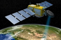 The Jason series of US/European satellites can measure the height of the ocean surface.