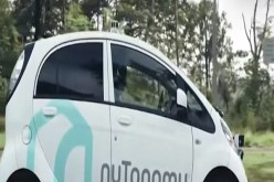 Self-driving cars on Singapore streets.