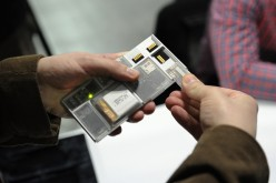 Google's modular phone (Project Ara) at Engadget Expand New York 2014 at Javits Center on November 7, 2014 in New York City.