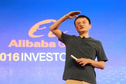 Alibaba founder and CEO Jack Ma speaks before investors during Alibaba's Investor Day in June this year.