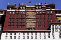 The Chinese national flag is hoisted on top the iconic Potala Palace in Tibet.