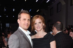 Gabriel Macht and Sarah Rafferty of Suits attend USA Network and Mr Porter.com Present 'A Suits Story' on June 12, 2012 in New York, United States.