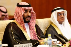 Saudi Arabia Deputy Crown Prince Mohammed bin Salman speaks during a meeting at the Diaoyutai State guest house on Aug. 31, 2016 in Beijing, China.