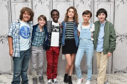 (L-R) Actors Gaten Matarazzo, Noah Schnapp, Caleb McLaughlin, Natalia Dyer, Millie Bobby Brown and Finn Wolfhard of 'Stranger Things' attend the BUILD Series at AOL HQ on August 31, 2016 in New York City. (Photo by Michael Loccisano/Getty Images)