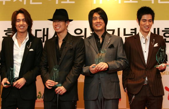 L To R Taiwanese Boy Band F4 Jerry Yan Vanness Wu
