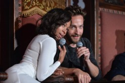 Actors Nicole Beharie and Tom Mison attend a special screening of Fox's 'Sleepy Hollow' at Hollywood Forever on June 2, 2014 in Hollywood, California. (