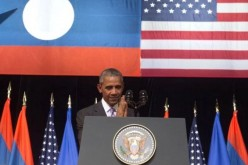 US President Barack Obama in Laos.