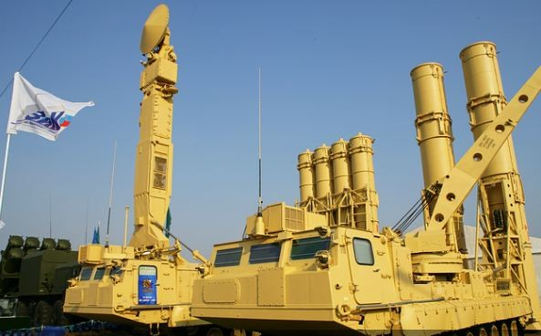 The Russian Antey-2500 air defense missile system.
