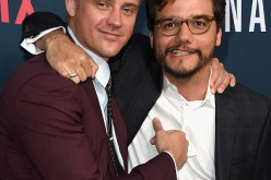Actors Wagner Moura and Boyd Holbrook attend the Premiere of Netflix's 'Narcos' Season 2 at ArcLight Cinemas on August 24, 2016 in Hollywood, California.