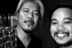Yibada editor Conan Altatis takes a selfie with 'The Woman Who Left' director Lav Diaz after watching Brillante Mendoza's 'Ma' Rosa.'