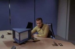 Captain Kirk in 'Star Trek'