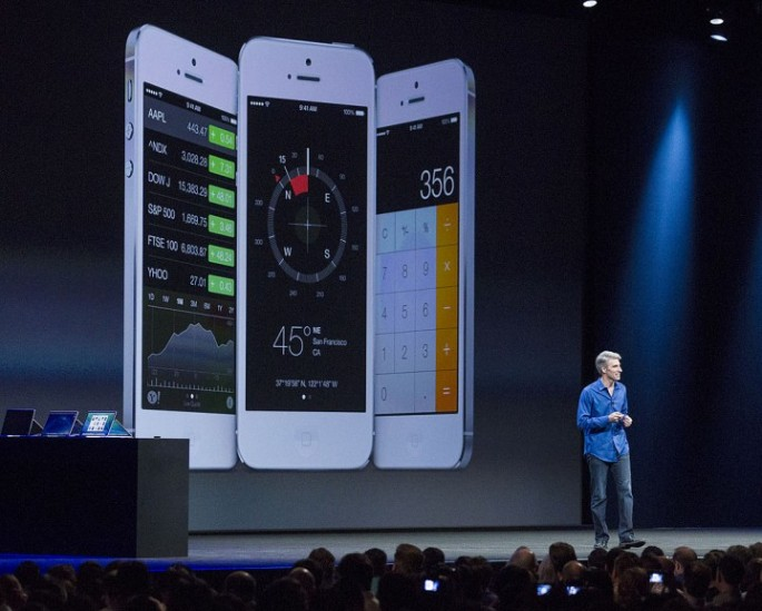 An Apple representative introduces iOS 10 features at  the WWDC 2016 event.