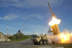 A THAAD battery launches an ABM interceptor.