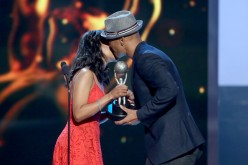 Kerry Washington presents Shemar Moore with the award for Outstanding Actor in a Drama Series for 'Criminal Minds', onstage during the 46th NAACP Image Awards presented by TV One.