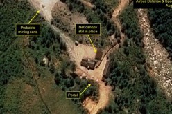 North Korean nuclear weapon test site.