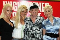 Hefner And 'The Girls Next Door' Appear At Tower Sunset