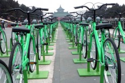 Bikes are still a popular mode of transportation in China.