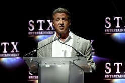Actor Sylvester Stallone speaks onstage at CinemaCon 2016 The State of the Industry: Past, Present and Future and STX Entertainment Presentation at The Colosseum at Caesars Palace during CinemaCon, the official convention of the National Association of Th