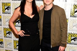 (L-R) Actors Morena Baccarin and Ben McKenzie attend the 'Gotham' press line during Comic-Con International 2016 at Hilton Bayfront on July 23, 2016 in San Diego, California.