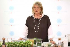 Martha Stewart was in China to participate in Alibaba's super kitchen day.