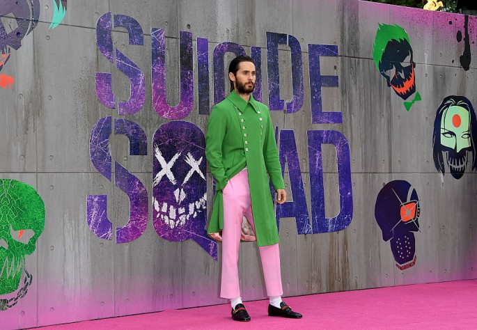Jared Leto attends the Suicide Squad European Premiere sponsored by Carrera on August 3, 2016 in London, England.