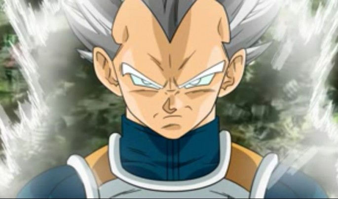 Potential Super Saiyan White transformation of Vegeta as speculated by some fans.