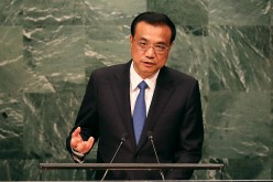 Chinese Premier Li Keqiang addresses the General Assembly at the United Nations on Sept. 21, 2016 in New York City.