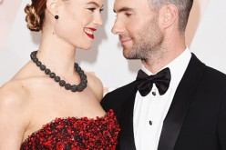 Singer Adam Levine (L) and model Behati Prinsloo attend the 87th Annual Academy Awards at Hollywood & Highland Center on February 22, 2015 in Hollywood, California.