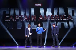 Actors Anthony Mackie, Chris Evans and Producer Kevin Feige of CAPTAIN AMERICA: CIVIL WAR took part today in 'Worlds, Galaxies, and Universes: Live Action at The Walt Disney Studios' presentation.