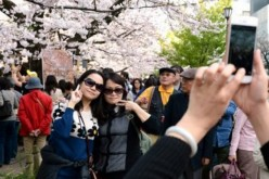 Chinese tourists in Tokyo.
