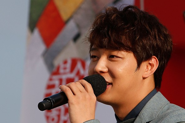 Korean singer and actor Park Yu-Chun attends the press conference 'Birth of Actor' on the second day of the 19th Busan International Film Festival (BIFF) at the Outdoor Stage-BIFF Village on October 3, 2014 in Busan, South Korea.
