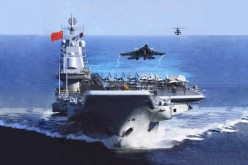 Liaoning launches a J-15.